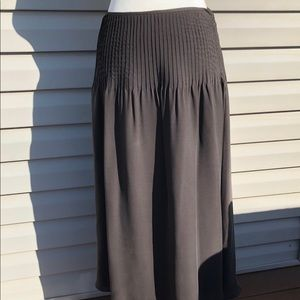 Ellen Tracy Brown Silk Skirt Size 6